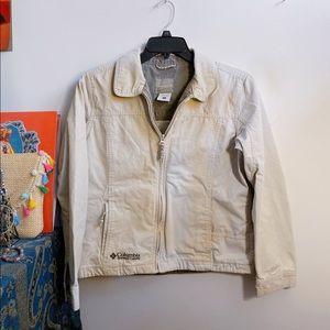 khaki columbia utility jacket